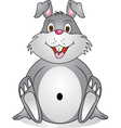 rabbit cartoon vector image vector image