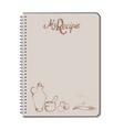 recipe notebook with hand drawn text oilcan vector image vector image