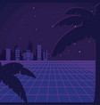 retro sci fi background scenery vector image