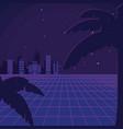 retro sci fi background scenery vector image vector image