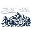 rocks sketch vector image vector image
