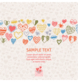 romantic card with ornament of hearts vector image vector image