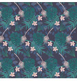 seamless hand drawn floral pattern with bright vector image