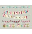 Set of birthday party elements Eps 10 vector image vector image