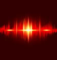 sound wave rhythm background red fire color vector image vector image