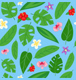 summer leafy seamless pattern design spring vector image vector image