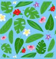 summer leafy seamless pattern design spring vector image
