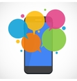 Text Messaging Flat Concept vector image