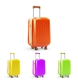 travel suitcase set vector image