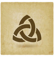 triquetra symbol old background vector image vector image