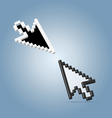 Two cursor arrows vector image vector image