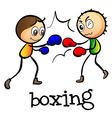 Two stickmen boxing vector image vector image