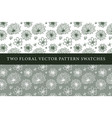 vintage floral pattern swatches vector image vector image