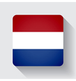 web button with flag netherlands vector image vector image