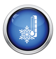 Winter cold icon vector image