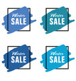 winter sale icon in blue color set vector image vector image