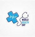 world health day flat vector image