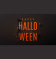 beautiful black greeting web banner for halloween vector image