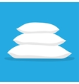 Three white pillows vector image
