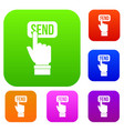 email communication concept set color collection vector image