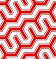 3D colored red diagonal fence vector image vector image