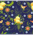 a floral pattern vector image vector image