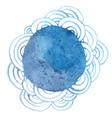 abstract oriental ocean wave banner watercolor vector image