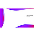 abstract wave background with gradient pink and vector image vector image