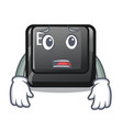 afraid button e in mascot shape