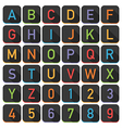 alphabet tile set vector image