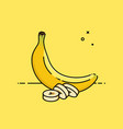banana with slices in the side vector image vector image
