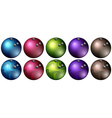 Bowling balls in different colors vector image vector image