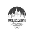 break dance logotype vector image vector image