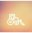 Bulldozer thin line icon vector image vector image
