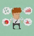 BusinessmanThinkGraph vector image