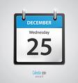 calendar icon 2 vector image