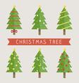 christmas tree 380 vector image vector image