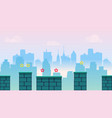 city game background with different platforms and vector image vector image