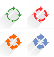Color arrow refresh rotation reset icon on white vector image