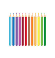 colorful pencil set isolated crayons palette vector image