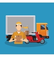 delivery logistics design vector image vector image