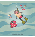 diving card vector image vector image