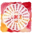 Elegant lacy doily Crochet mandala vector image vector image