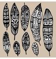 Ethnic Feather Set vector image