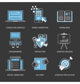 Flat design modern concept for vector image vector image