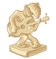 Golden statuette of the guitar player vector image