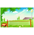 Grass Tennis Court vector image vector image