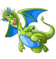green dragon on white background vector image vector image