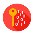 key binary code circle icon vector image vector image