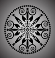 Lace round borders vector image vector image